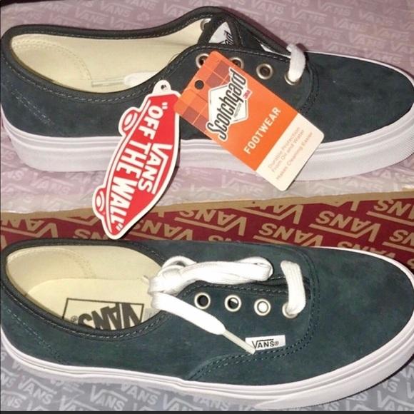 Vans Shoes | Scotchgard Authentic Suede